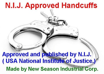 Handcuffs NIJ Approved and Certified, NIJ Handcuffs, Hinged Handcuffs, Color Handcuffs, Legcuffs, Thumbcuffs, Gang Chain Handcuffs, High Security Handcuffs, handcuff, handcuffs