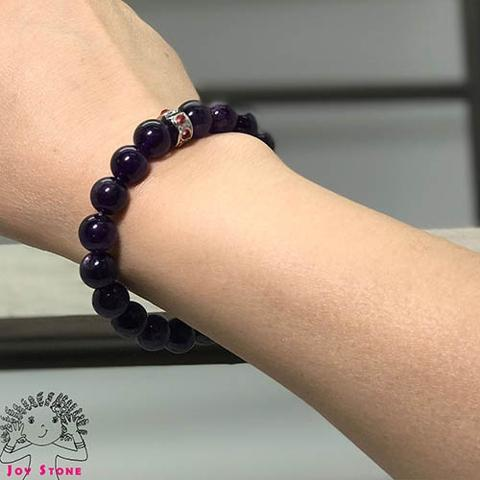 Amethyst Bracelet Beaded Natural Stone