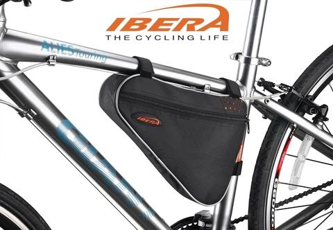 IBERA Bicycle Triangle Frame Pack Bag Black IB-FB1M