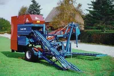 Karotten-Erntemaschine