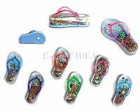 Flip Flops Magnet with Water, Sand, Seashells