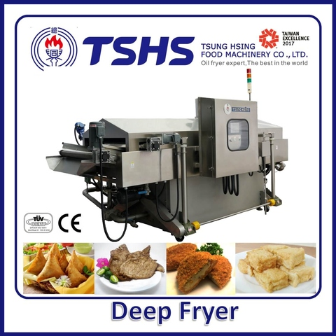 Industrial Continuous Stainless Steel Fish Gas Deep Fryer Machine