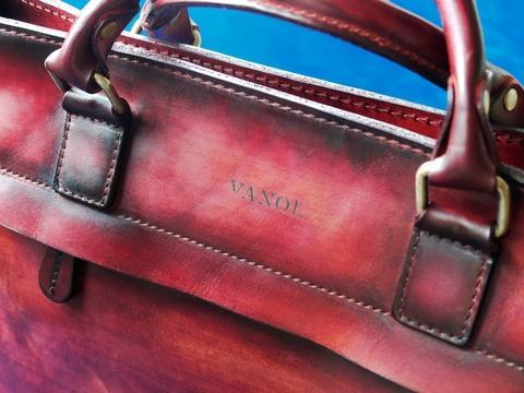 VANOL Briefcase - Tender 2017 - Burgundy - Handle