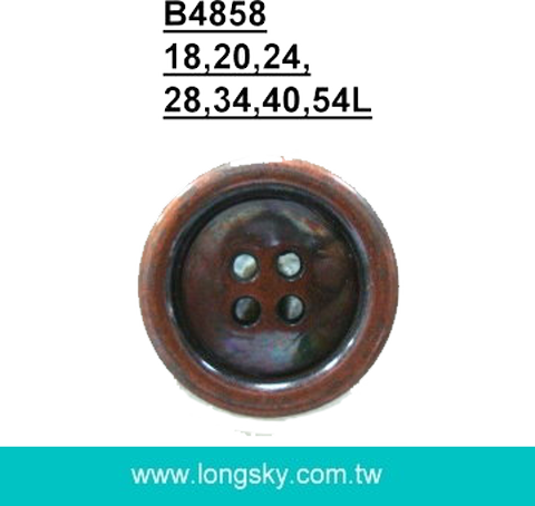 4 hole antique copper button Taiwan factory