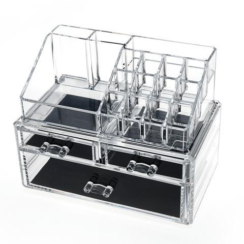 Transparent Desktop Drawers 3 Compacts Organizer Box