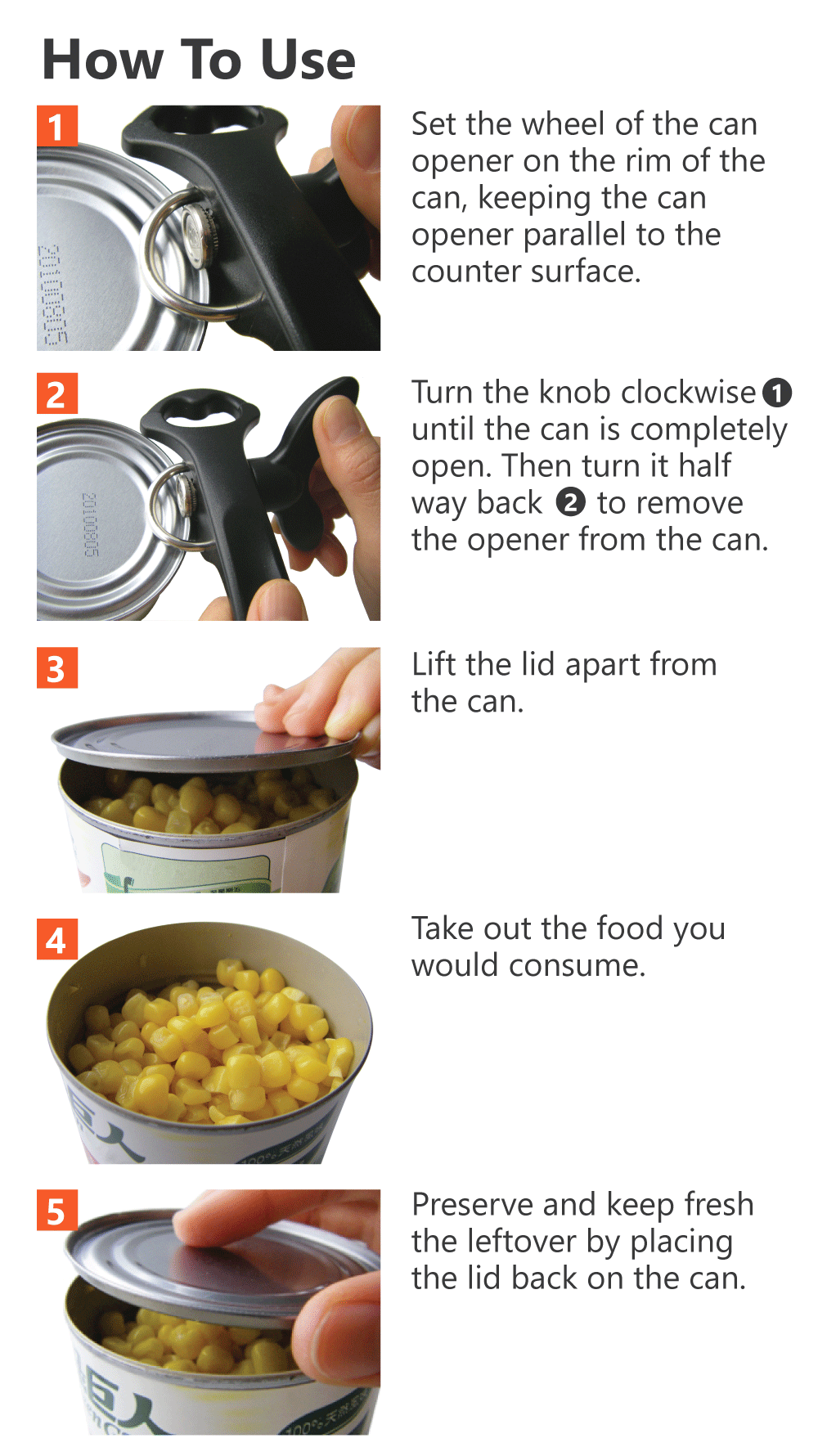 How to use safety can opener