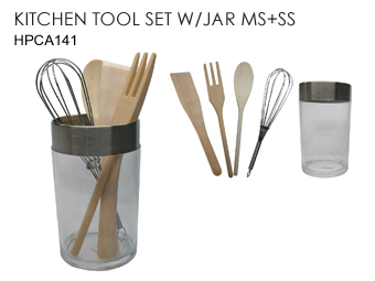 KITCHEN TOOL SET/JAR MS+SS