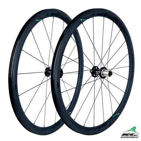 Kavulungan, Vulung/ SHARP+, 碳纤维轮组, 无内胎系统, 2019 黑色 38.8mm height, 1420g weight, 700x 23-25C
