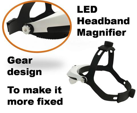 LED Lighted Headband Eyelashes Craft Magnifier