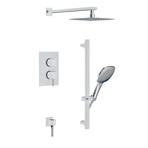 Trim - In-wall  ceiling shower and hand shower faucet