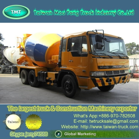 Taiwan [HN-003] Used HINO concrete mixer truck , truck dealers