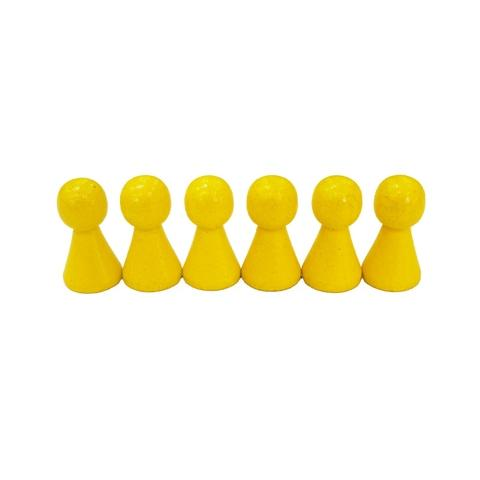 15*27mm Yellow Wooden Pawn