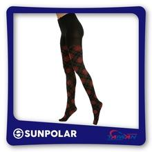 Opaque/Sheer Fashion Compression Pantyhose