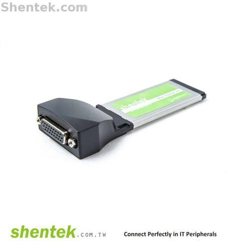 Shentek Serial RS232 2 Port 34mm ExpressCard