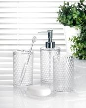 Honeycomb Clear Bathroom Set