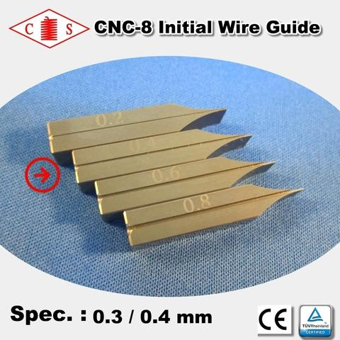 CNC-8 Initial Wire Guide 0.3 / 0.4 mm - Back