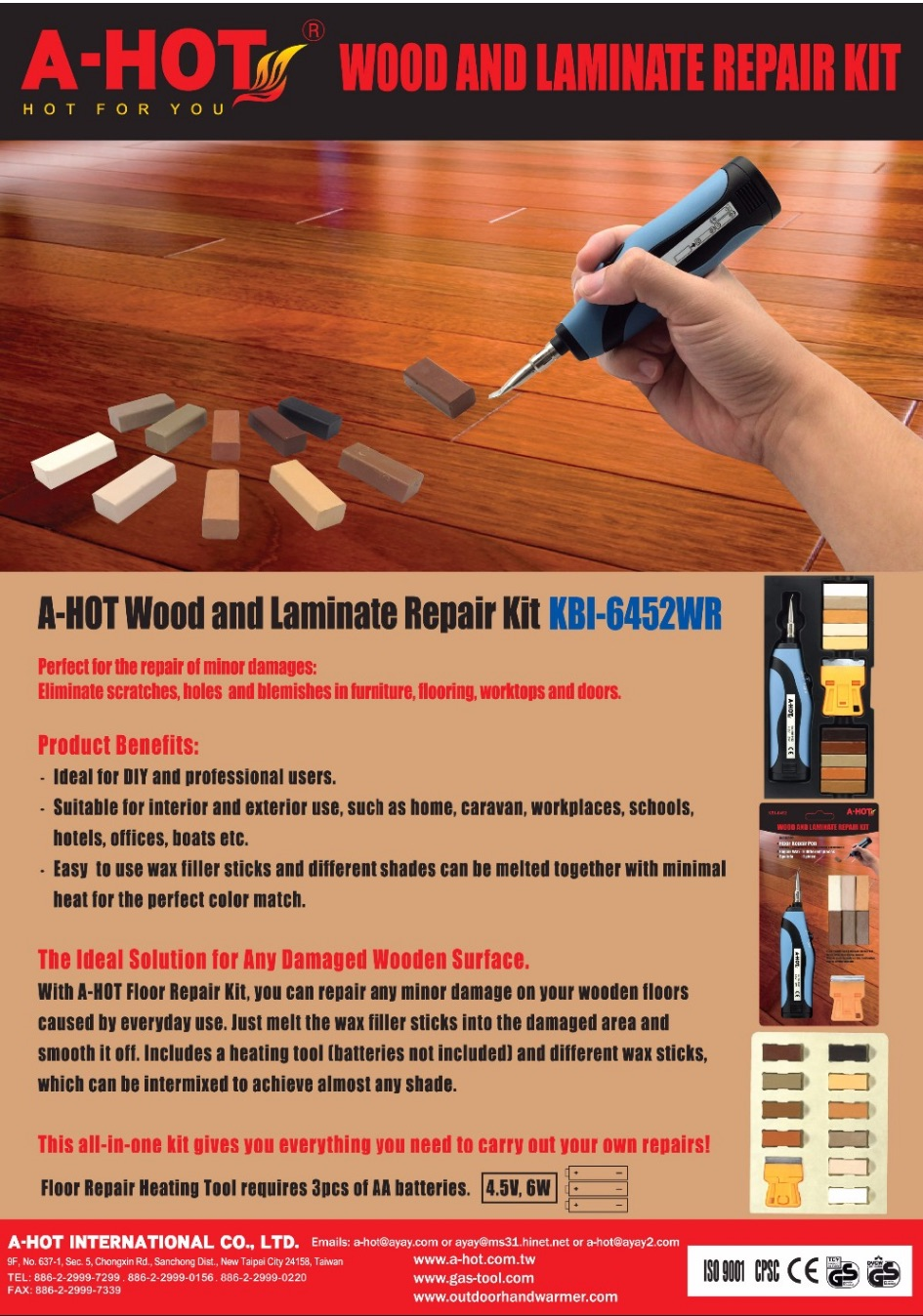 DIY Laminate Furniture Floor Fix Scratch Wood Floor Repair Pen