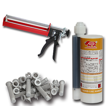 化学薬品注入アンカー、セメント、鉄鋼、接着剤