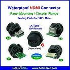 Waterproof HDMI Molded Cable Assembly