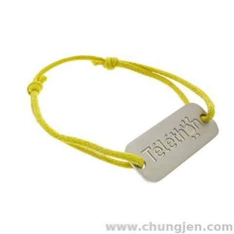Bracelet with Mat Metal Charm