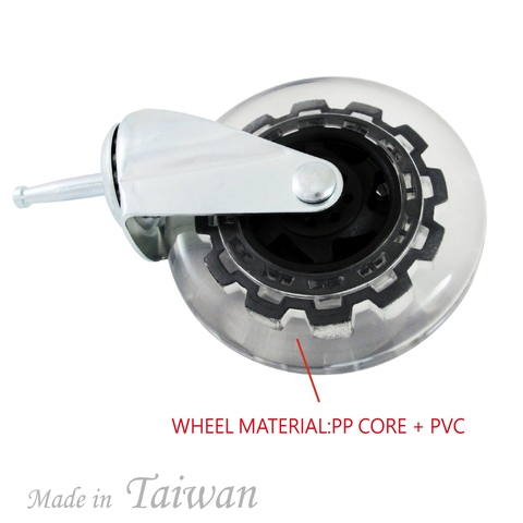 4 inch PVC Wheel Grip Neck Removable Caster Wheels
