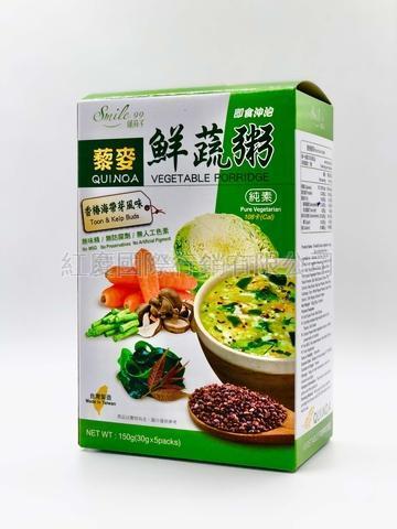 藜麥鮮蔬粥 (麻油薑 / 香樁海帶芽)