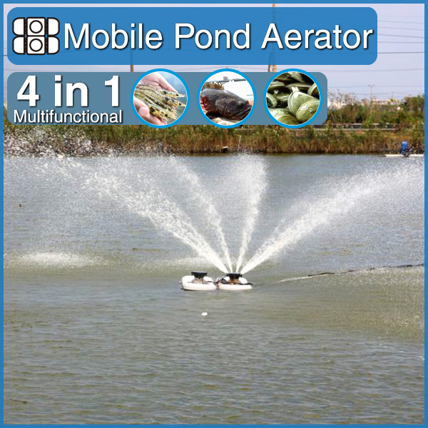 high quality 4 in 1 multifunctional 2HP 1.5kw fish pond equipment