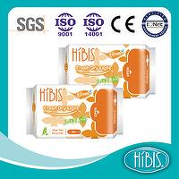 Disposable Soft Cottony HIBIS Herbal PantyLiner 160mm
