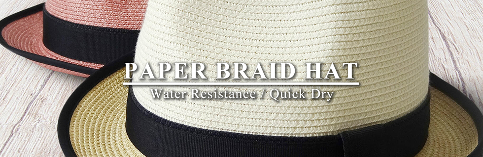 Paper Braid Hat - Water Resistance / Quick Dry / Moisture Absorption / Breathable