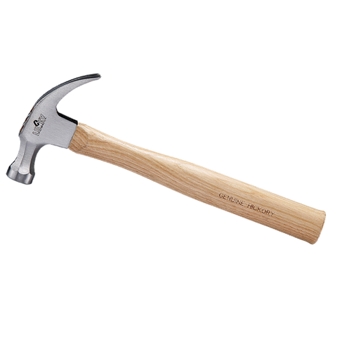 Hickory Wood Handle Curved Claw Hammer