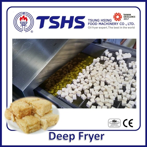 Industrial Continuous Stainless Steel Onion Lpg Gas Fryer Machine