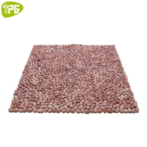 Rose Bloom Pebble Tiles Mosaic