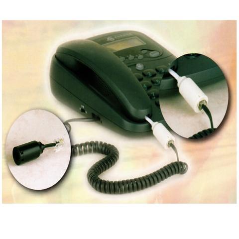 Anti-Twist Swivel Telephone Cord Adapter-12 Pcs In 1 Package