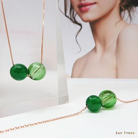 Green Agate August Diffuser Necklace