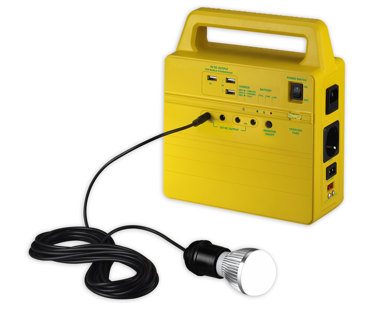 Taiwan 100w All In One Portable Solar Generator Handy Kit Fuse Box Battery Cell Charger And Module