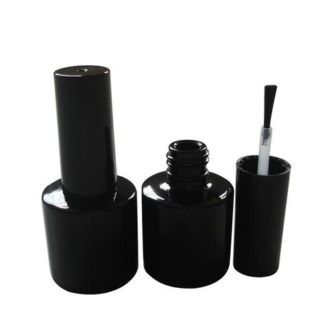8ml Black-Glass Empty Gel Nail Polish Bottle