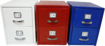 Taiwan Sensmetal Business Card File Cabinet With 2 Drawers
