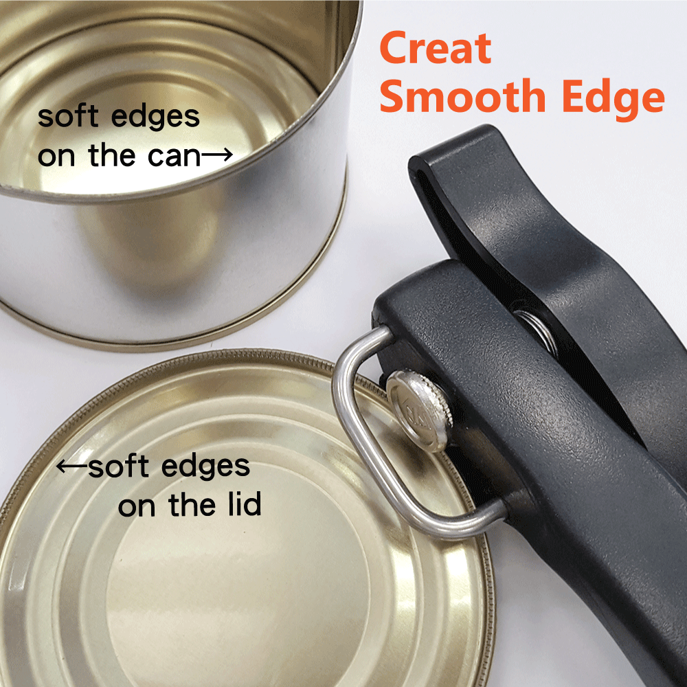 Safety can opener can creat smooth edges.