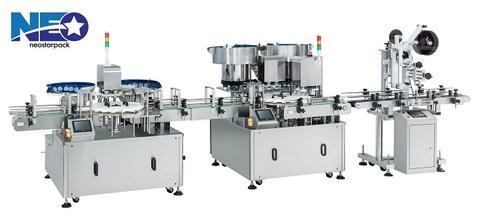 Capping and Labeling Line for Mixed Nuts
