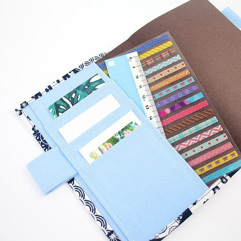 2022 A6 Daily View Diary Journal with Removable Manual Fabric Book Sleeve (One Page Per Day)