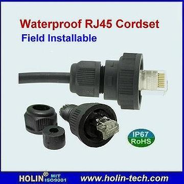 Taiwan Waterproof Rj45 To Rj45 Patch Cord Ip67 Rated