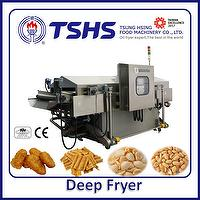 Industrial Continuous Stainless Steel Nuts Gas Fryer