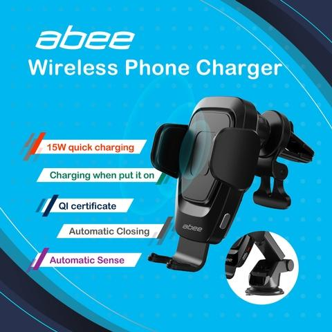 15W QI certified wireless phone charger holder