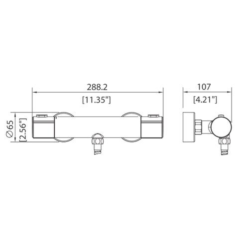 Splice - Thermostatic shower faucet