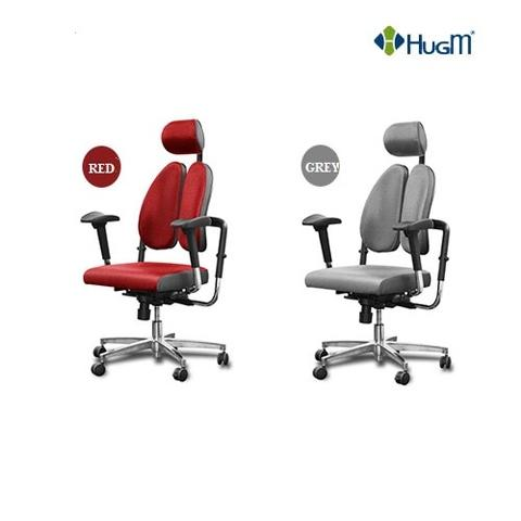 HugM Duo Back Chair with memory foam Seat Cushion  TX-SUPER