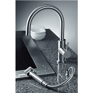 JUSTIME Still One Kitchen Faucet W/Side Sprayer