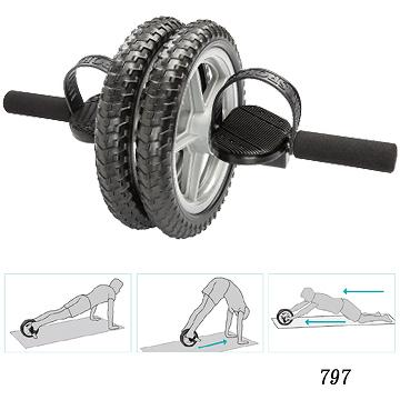 "11.5"" Abdominal Power wheel with steps"