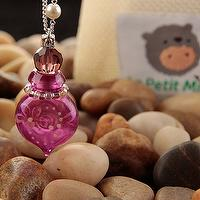 Aroma Vial Essential Oil Diffuser Cherish Painted Necklace Purple Color 3