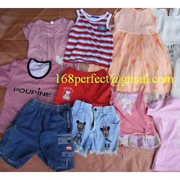 Summer Mixed Child Used Clothes