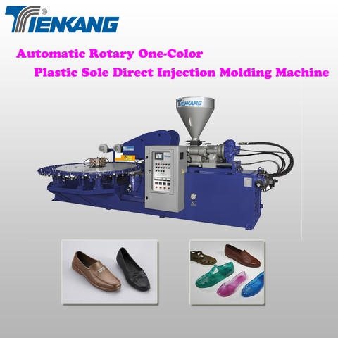 Rotary one/two color plastic shoe direct injection molding machine
